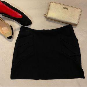 Alice + Olivia Black Mini Skirt